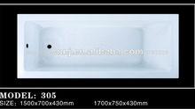 (305) proyecto simple baratos de acrílico tina de baño
