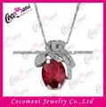 Prateado Oval Womens Rubi Pingente Gemstone Jewelry