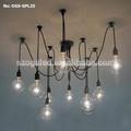 China de iluminación para el hogar/colgante de cristal de la lámpara/vidrio colgante de luz con edison blub