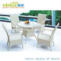 marco de aluminio muebles al aire libre barra de mesas y sillas del patio