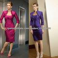 Venta caliente cariño acanalada hasta la rodilla a medida púrpura madre del vestido de la novia CWFXm40