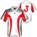 Novo design sublimado sportswear sublimada futebol jogadores com nomes e números, camisa de futebol