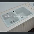 Pierre de quartz artificiel ba-cs013 comptoir avec évier de cuisine
