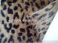 Leopardo impreso poliester polar pv tela para almohadas/funda de cojín