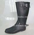 moda 2014 negro con cremallera de goma caballo botas de montar a caballo de las mujeres