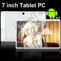 Q88 frente y cámaras de nuevo, de 7 pulgadas PC de la tabla, tableta Google Android 4.0.3, Corteza A13 Hasta 1.5Ghz, 512MB WiFi