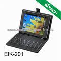 USB del cuero del teclado de la tableta para 7 8 9 10 inch Tablet MID