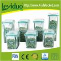 Casa de material plástico pp hermética da vasilha para café, arroz, porcas, armazenamento dos doces