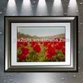 pinturas al óleo de flores rojas