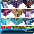 vente chaude différente nappe de satin de couleur