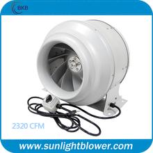 hidroponía 12 pulgadas en línea max de escape del ventilador del ventilador de baño