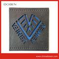 Coleção logo laser preto estilo jeans etiqueta de couro, atacado leater rótulo/rótulo/jeans etiqueta de couro