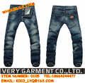 2014 nueva llegada elástica pantalones vaqueros de los hombres de corea simple de estilo delgado