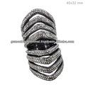 Joyería de moda anillo, joyería de la india de fabricación, 925 de plata esterlina del anillo de la jaula, diseñador de joyas