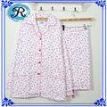 Custom adultos mujeres al por mayor del algodón por todas partes Impreso Flores pijama pantalones de manga larga ropa de dormir