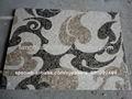 rectángulo de mármol medallón del mosaico de mesa de patrones