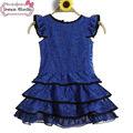 2014 nova qualidade agradável crianças roupa azul de fantasia vestidos para meninas no paquistão