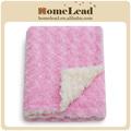 Vente chaude double rosace. couvertures de bébé à tricoter les modèles