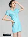 Sscshirts hermoso baratos design100% vestido de dama de honor