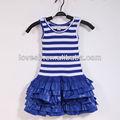 2014 loveslf ropa de niños/raya chaleco vestido/los niños fabricante de la prenda