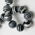 venta caliente negro cuentas de malaquita piedras semi preciosas