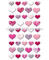 2014 hermosa forma de corazón puffy y vinly etiqueta para los niños