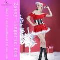 navidad falda sexy sexy miss santa navidad traje de vestido de las mujeres con la franela de tanga
