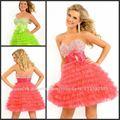 Bastante y encantador P-ED-281 de tul vestido corto vestido de fiesta