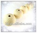 Tringle à rideau bois, ronde en bois naturel non traité plaine, balles. perle avec un trou