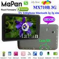 """Mapan MX710B 3G 7 """"3G Android comprimé MTK8377 capacitif Tablet PC / tablette pas cher téléphone dual core bluetooth WiFi HDMI"""