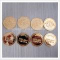 la promoción de oro de color de plástico símbolo de la moneda