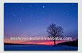 paisaje nocturno ver enmarcado lienzo de paredimagen con luz led