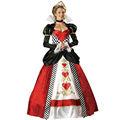 halloween vestido de lujo trajes de país de las maravillas de la reina de corazones disfraces, trajes de cosplay,