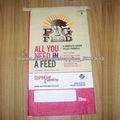 Bolsas tejidas de polipropileno de 20 kg de alimentos para mascotas