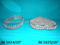 Beaded Heart Shape jewelary box,Crystal Heart Shaped Box,Crystal Tray