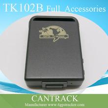 Vehículo pequeño portátil coche gps tracker gps TK102B seguimiento