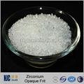 1090-1130c super blanco y liso de circón frita de vidrio opaco