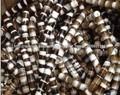 Cilindro hueco perlas barril Madagascar cuentas de ágata 15x18mm ágata 2mm con agujero de 2mm