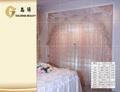 Vender bem laço bordado cortina de tecido para hotéis/residências