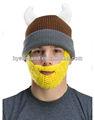 ganchillo de la barba y el bigote gorro de lana con sombrero de cuerno