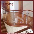 curvo de vidrio barandas para terraza