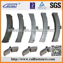 Material ss400 tren bloque de freno, el ferrocarril bloque de freno