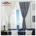 Azul cortina de ventanas, med cortina de estilo, pescado clásico de la cortina