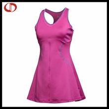 vestido de una sola pieza de tenis para niñas en rosa
