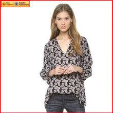seda sencillo encabeza mujeres al por mayor de ropa de raso blusa de manga larga