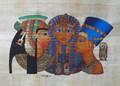 Pinturas egipcias de papiro, tut, nefertiti, cleopatra