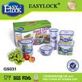 Conjunto:Lonchera de plástico Conveniente y práctico:PP y libre de BPA