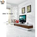 alto brillo y madera chapa lcd tv diseño de tabla