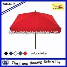 Nuevo estilo 200x200cm paraguas cuadrados para al aire libre, sombrilla de jardín