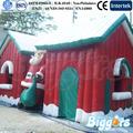outdoor de natal insufláveis santa decoração lareira estilo tenda casa